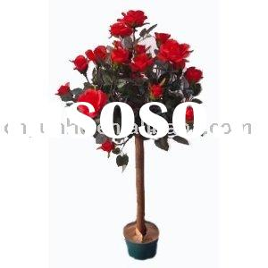 Artificial Tree Collection - 3 Foot Red Rose Tree