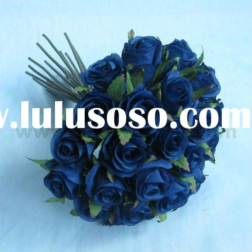 Artificial Wedding Bouquet in Blue Color x 26 heads