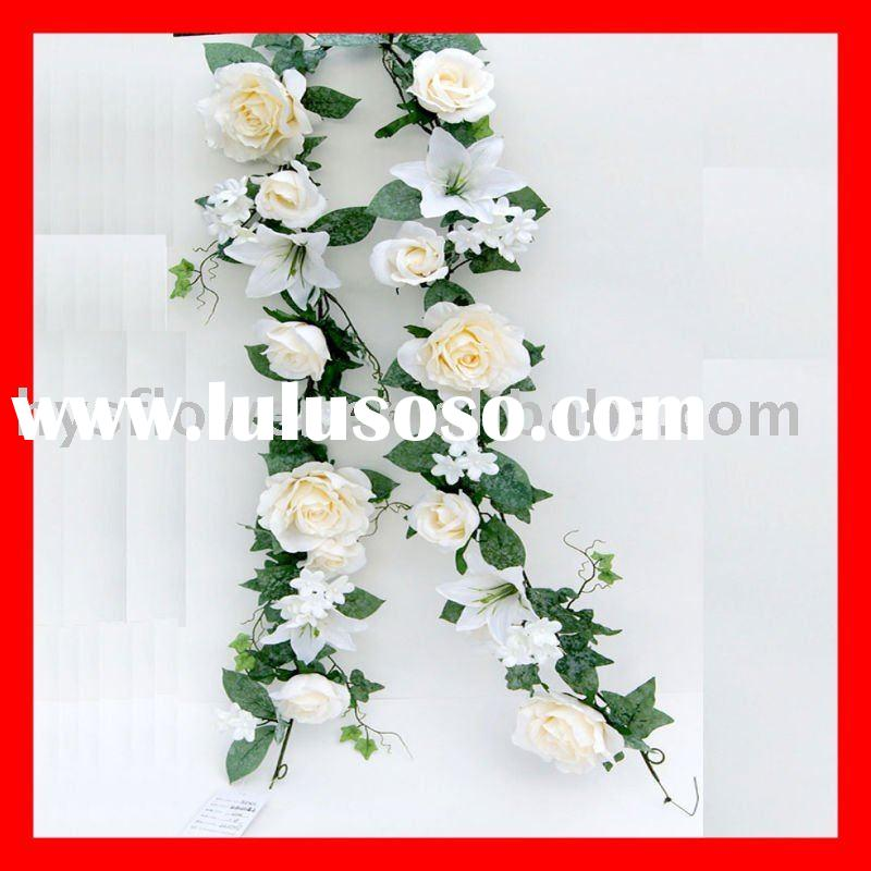 Artificial flower garland-lily and rose mixed garland