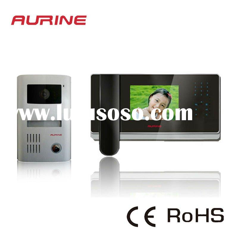 Aurine 4-WIRE Handset Color Video Door Phone Kit