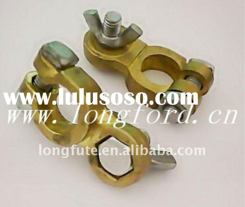 Auto battery terminal clamp
