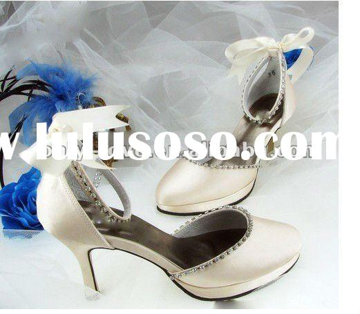 BS083 new style 2012 ivory bridal wedding shoes