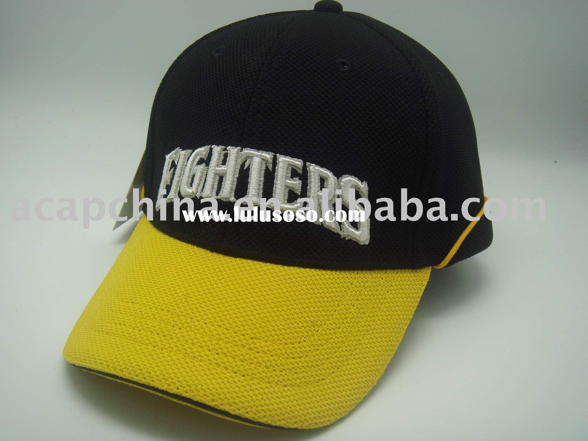 Baseball cap ( sports mesh cap with cool max fabric and embroidered logo )