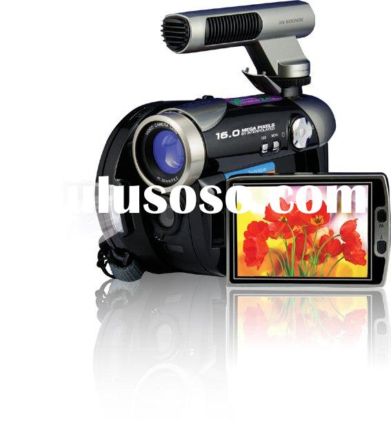 Black Digital Camera/Camcorder/Video HC700 with External Microphone