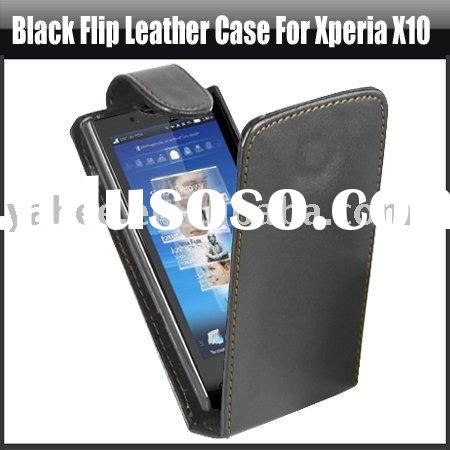 Black Flip Leather Case for Sony Ericsson Xperia X10,YHA-MO044