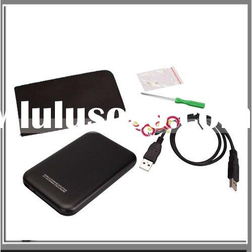 "Black USB 2.5"" eSATA SATA Hard Drive External Enclosure Case"
