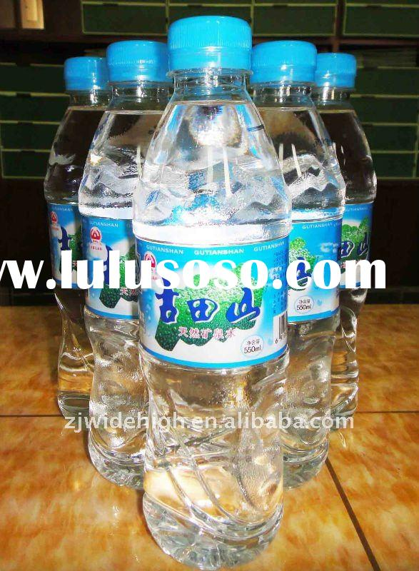 Bottle drinking pure natural mineral water/550ml