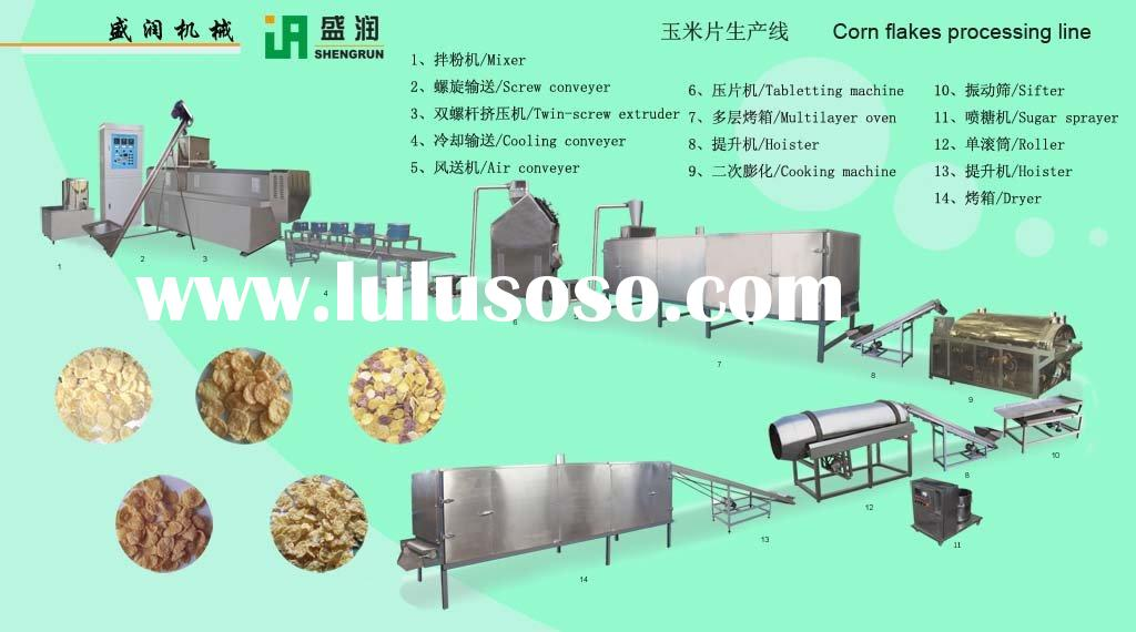Breakfast cereal,Corn flakes processing line