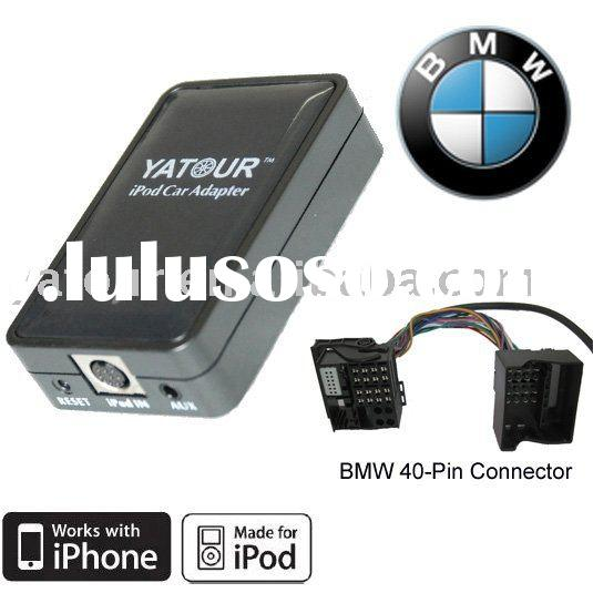 Car Adapter for ipod/iphone for BMW flat 40-pin factory stereo