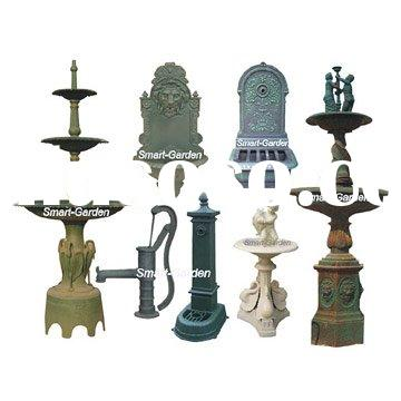 Cast Iron Fountain, Water Features, Pump