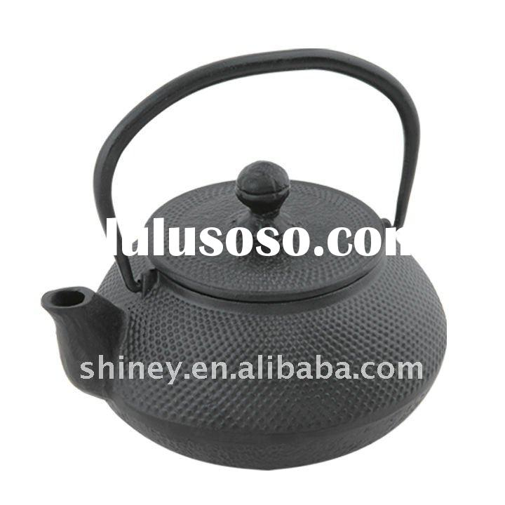 Cast iron tea pot with stainless steel filter