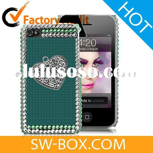 Cellphone Accessories - Rhinestone Hard Case Cover For iPhone 4S