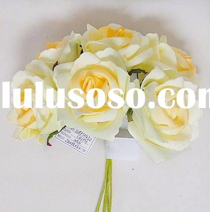 Colorful Artificial Foaming Rose Wedding Flowers Bouquet