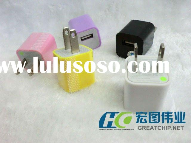 Colorful Mini USB Wall Charger for iphone,for ipod