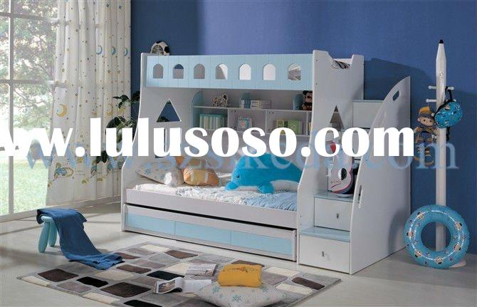 Colorful wood children bed sets AB11-002