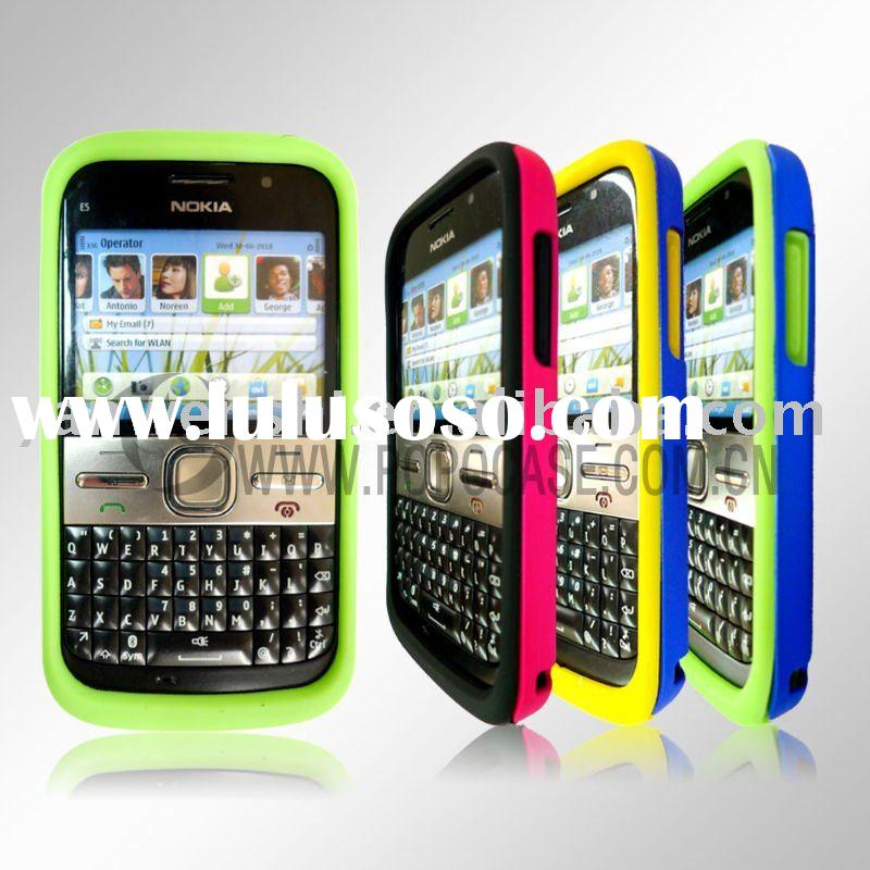 Combo Cell Phone Case for Nokia E5 (Combination of silicone case & crystal case)