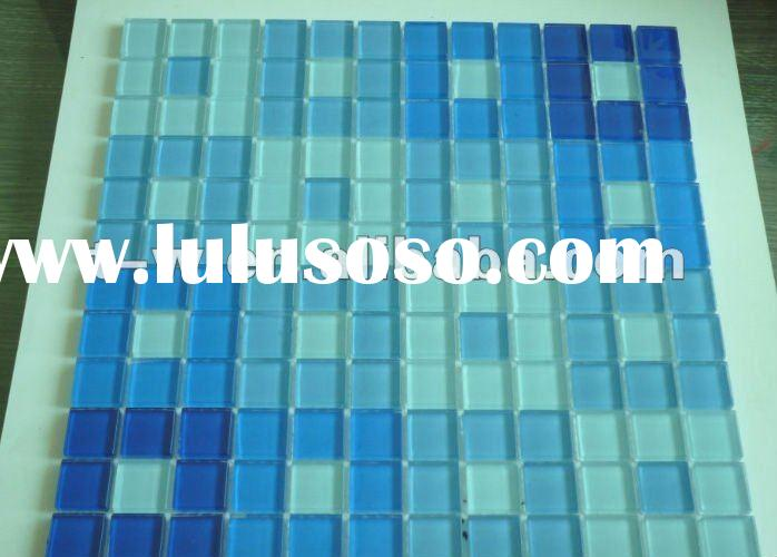 Crystal Blue Swimming Pool Glass Mosaic