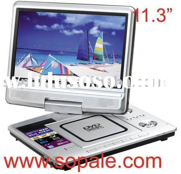 DVD PLAYER---11.3 inch divx portable DVD player with TV/USB/Card Reader