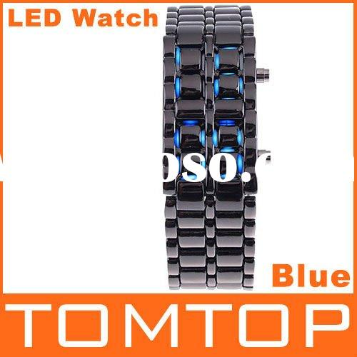 Digital Lava Style Blue LED Sports Faceless Watch For Women