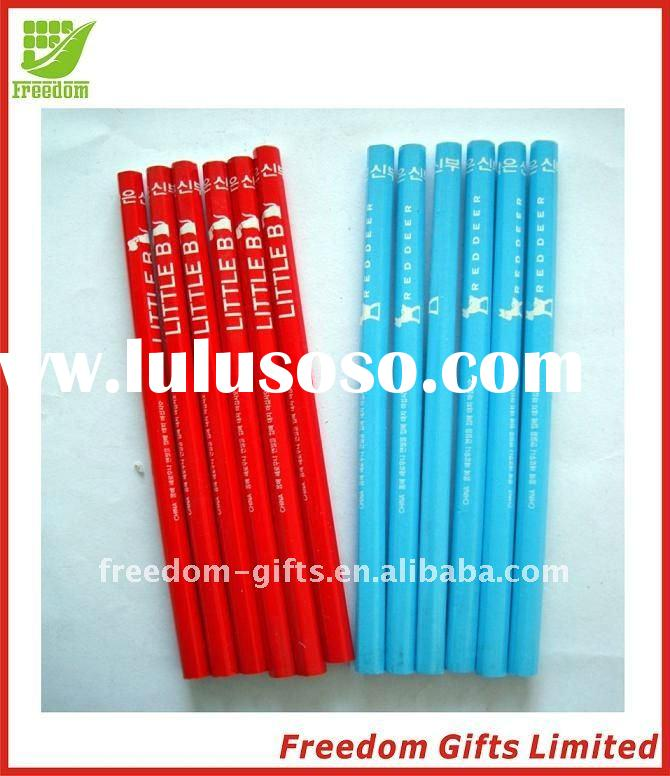 Eco-friendly Material Top Quality Logo Printed Wooden Pencils