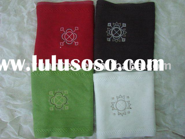 Fashion 100%cotton stone scarf with embroidered