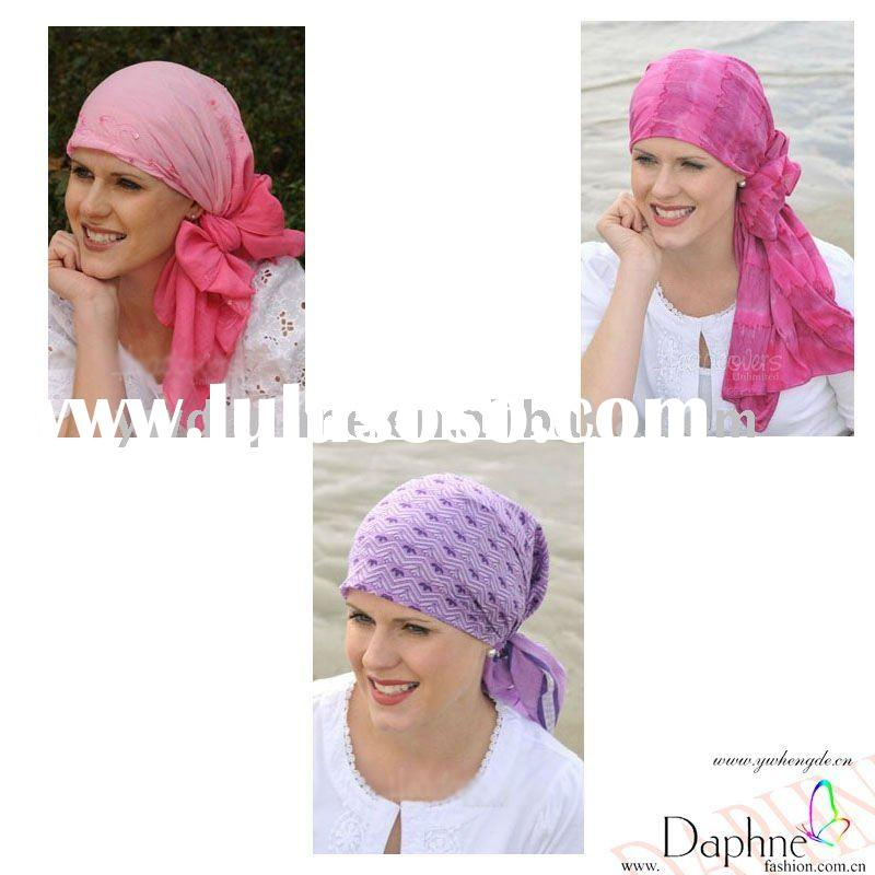 Fashion Floral Embossed Cotton Head Scarves