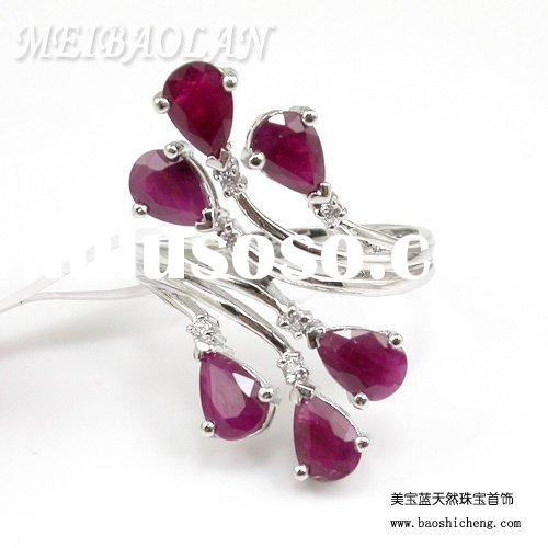 Fashion Jewelry,Silver Ring,Necklace Chain, Gemstone Jewelry,Natural Ruby Ring(00090018)