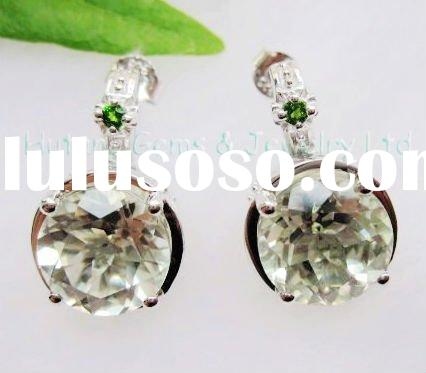 Fashion jewelry set:925 sterling silver earrings with natural gemstones USE982