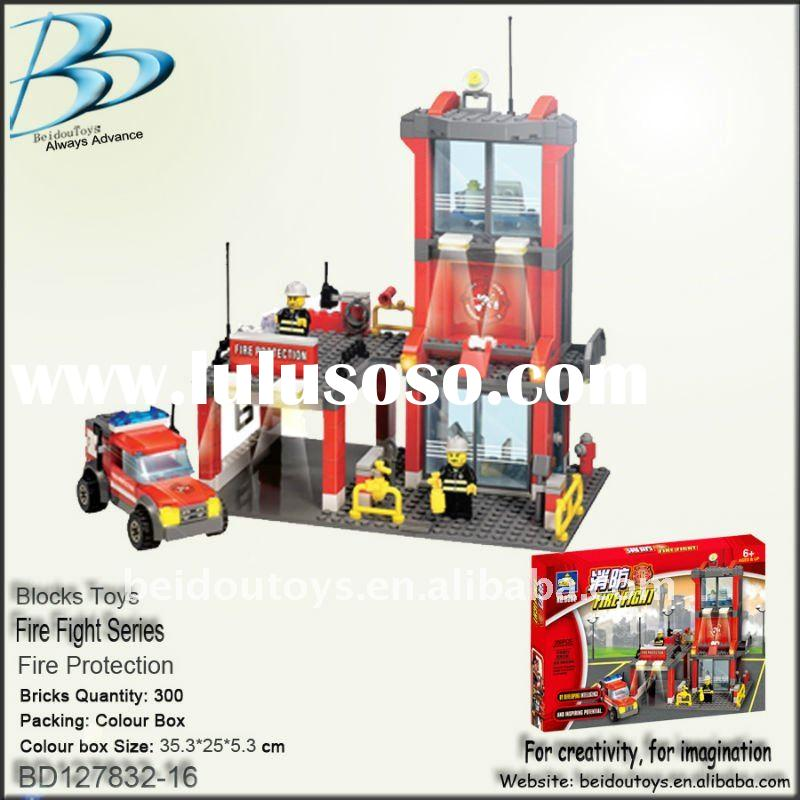 Fire station toy brick set BD127832-16