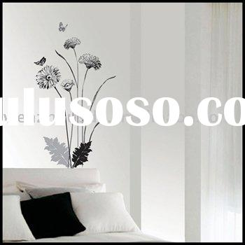 Flower Wall Paper Decal Reemovable Murals Stickers