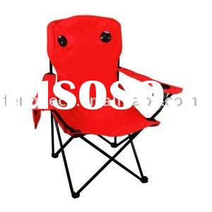 Folding camping chair with speaker