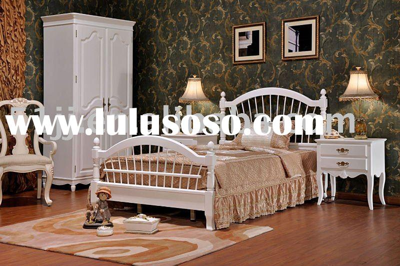 French country style Solid Wood Kid Bedroom Furniture Sets