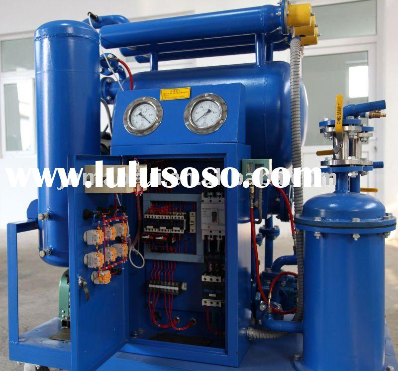 Generator oil purification for electric power plant