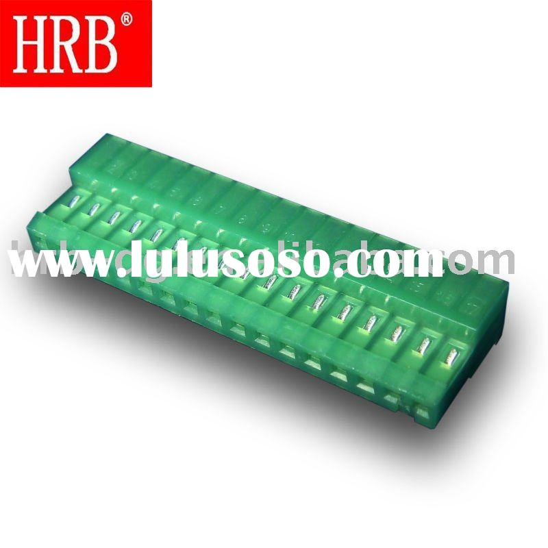 """HRB 2.54mm (0.100"""") pitch 19 pin cable female connector without lock ears"""