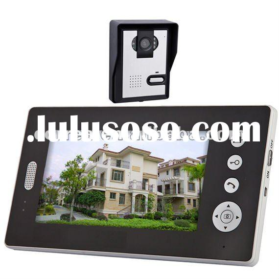 Home Security 7 inch wireless video door phone and intercom system