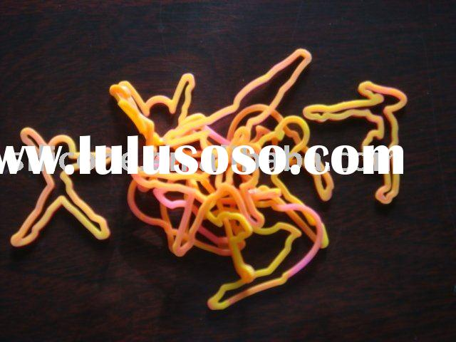 Hot Gymnastics Shape Silicone Rubber Bands