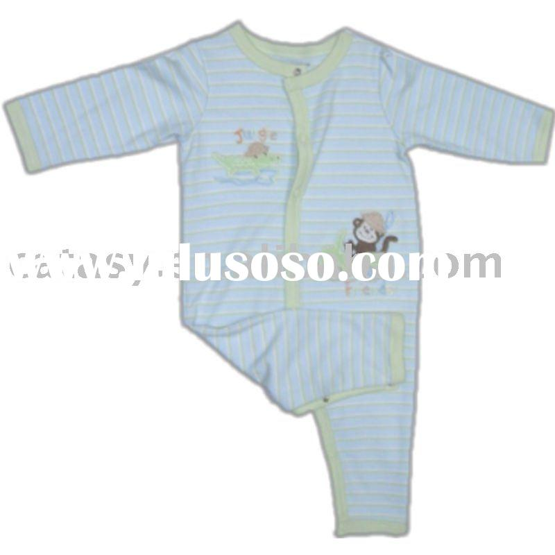 Hot sell 100% cotton long sleeve baby wear