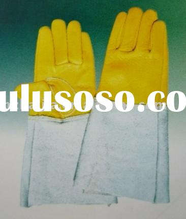 Industrial gloves welding glove cow split and grain leather