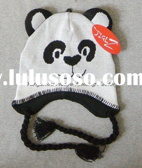 Jacquard Knitted Animal Pattern Children's winter hat/beanie
