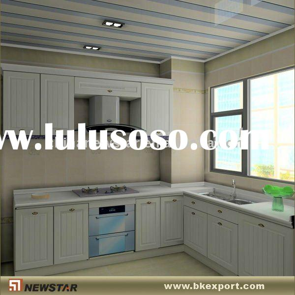 Kitchen solid wood pantry cabinet