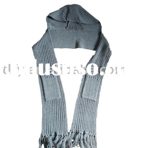 Knitted hood scarf set