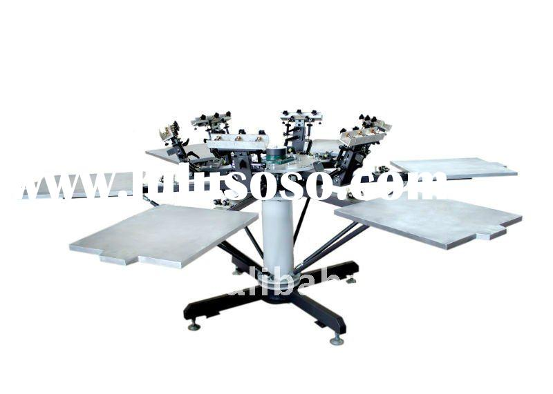 Manual rotary t shirt screen printing machine( 8 color)