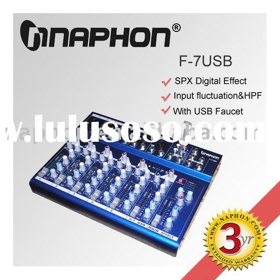 Mini USB Sound Mixer/ Mixer Console F7USB
