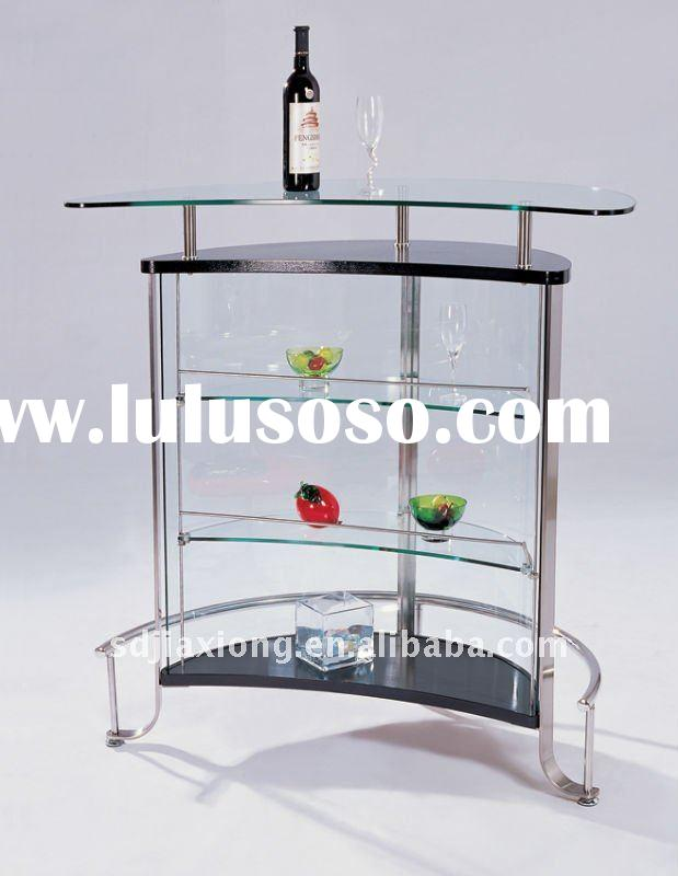 Modern Commercial & Home Furniture Glass Bar Counter Design W008