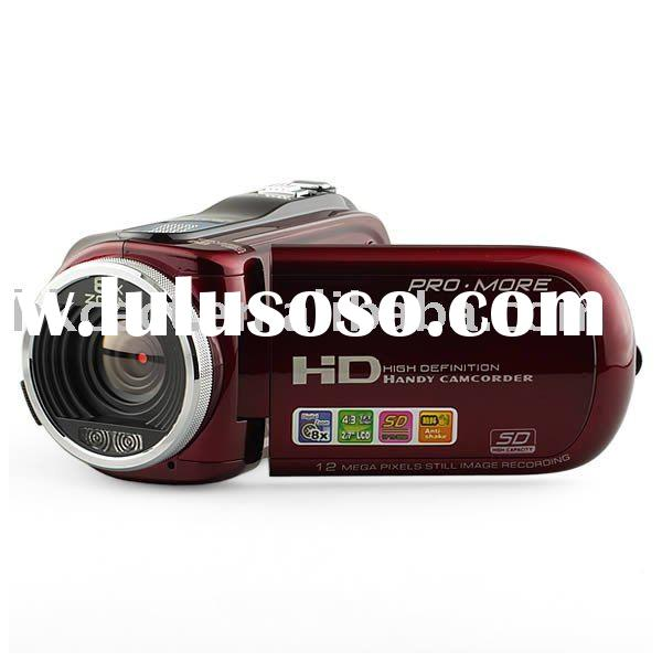 New HD digital video camcorder with 2.7' color LCD