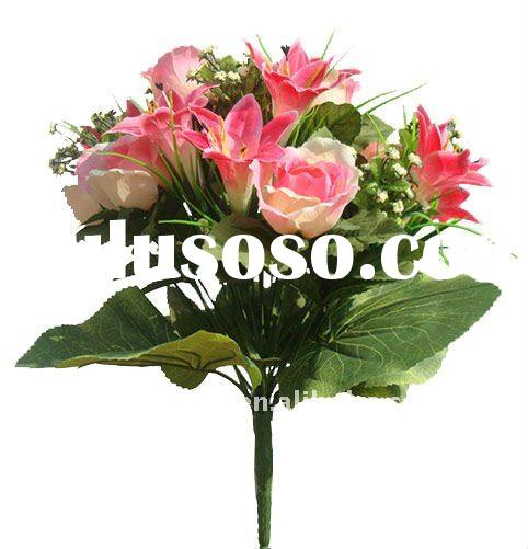 New artificial rose bouquet flowers for wedding