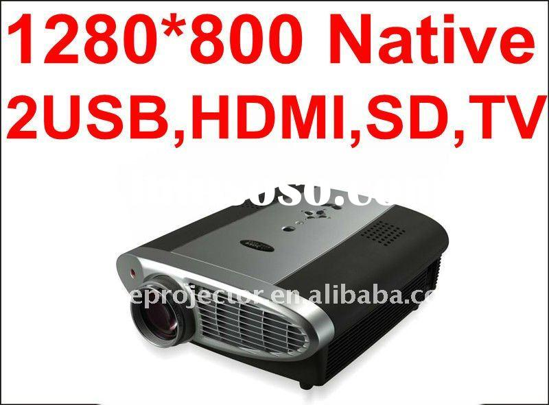 No.1 In the World Native 720P 1280*800 Full HD LED Projector,support 3D,Freeview,SKY,DVD Player, Blu