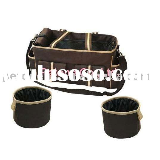 Pet Travel Bag Set, Ideal for Storing Pets Needs while Travelling, Measures 19 x 11.5 x 7-inch