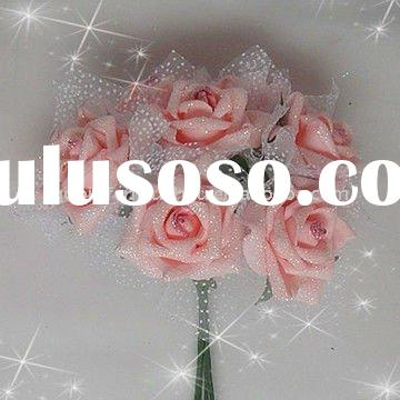 Pink Artificial Wedding Bouquets Roses Flower Bunches