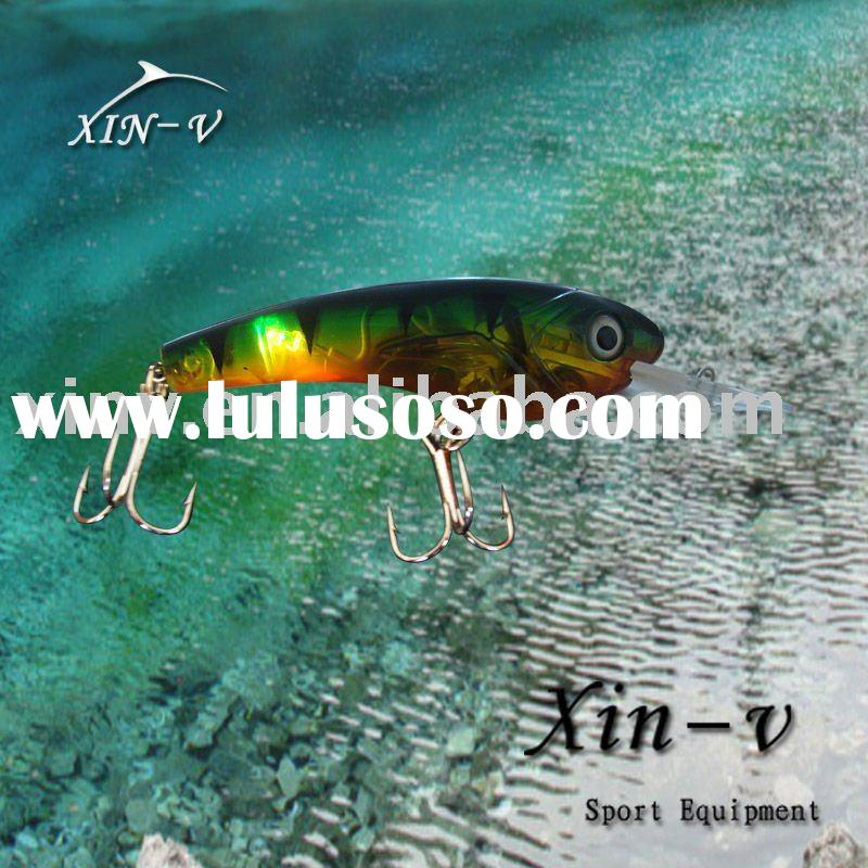 Plastic with LED light fishing lure